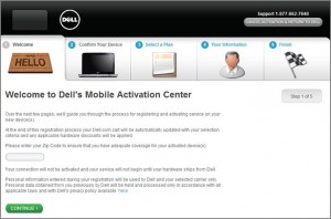 Dell's Mobile Activation Center